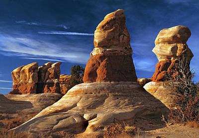 Sandstone Hoodoos In Utah Desert Poster