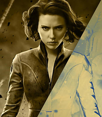 Scarlett Johansson Black Widow Collection Poster