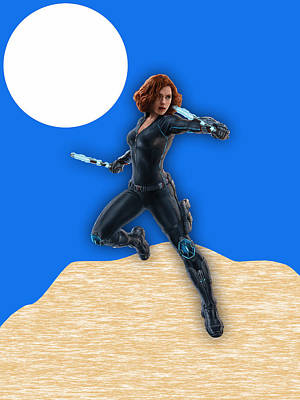 Scarlett Johansson Black Widow Poster by Marvin Blaine