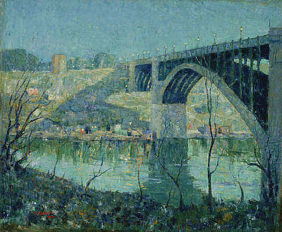 Spring Night, Harlem River Poster