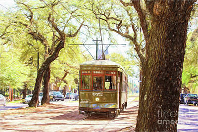St. Charles Streetcar Poster by Scott Pellegrin