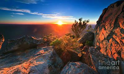 St Mary Peak Sunrise Poster