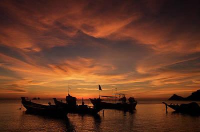 Sunrise On Koh Tao Island In Thailand Poster by Tamara Sushko