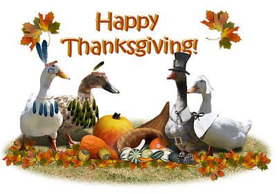 Thanksgiving Ducks Poster