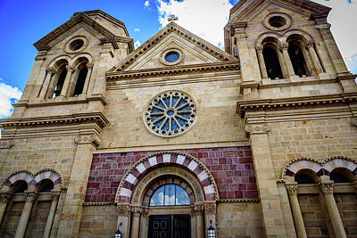 The Cathedral Basilica Of St Francis Of Assisi - Santa Fe - New Mexico Poster by Jon Berghoff