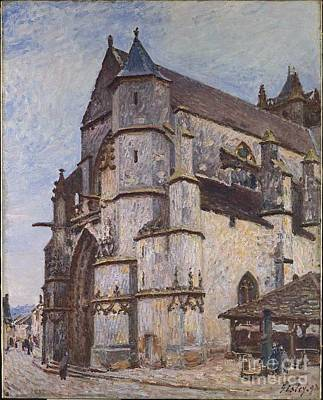 The Church At Moret Poster by MotionAge Designs