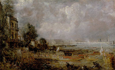The Opening Of Waterloo Bridge Poster by John Constable