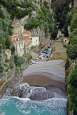 This Is A View Of Furore A Small Village Located On The Amalfi Coast In Italy  Poster