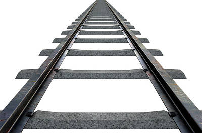 Train Tracks Isolated Poster