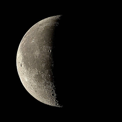 Waning Crescent Moon Poster