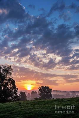 West Virginia Sunrise Poster by Thomas R Fletcher