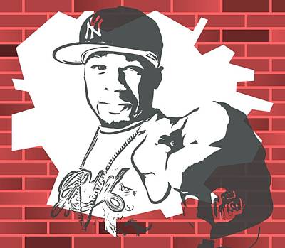 50 Cent Graffiti Tribute Poster by Dan Sproul