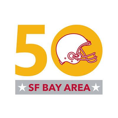 50 Pro Football Championship Sf Bay Area Poster by Aloysius Patrimonio