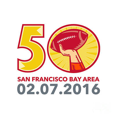 50 Pro Football Championship Sunday 2016 Poster by Aloysius Patrimonio