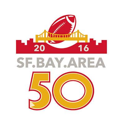 50 San Francisco Pro Football Championship Poster by Aloysius Patrimonio