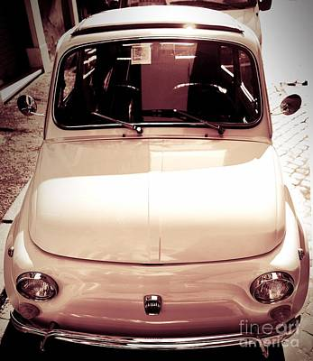 500 Fiat Toned Sepia Poster by Stefano Senise