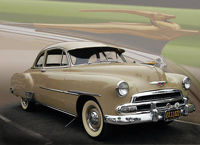 51 Chevrolet Deluxe Poster by Bill Dutting