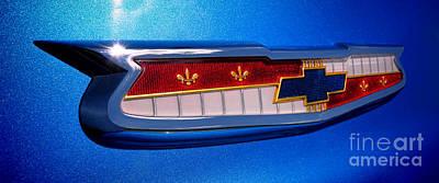 57 Chevy Bel Air Badge  Poster
