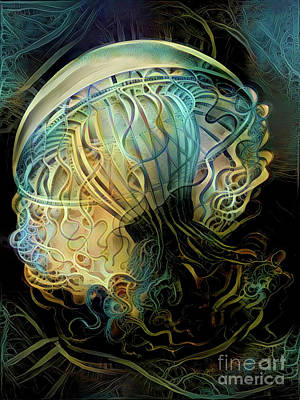 Abstract Jellyfish Poster