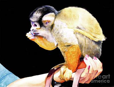 #59 Squirrel Monkey 2 Poster by William Lum