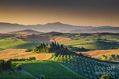 A Morning In Tuscany Poster