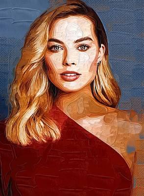 Actress Margot Robbie Poster