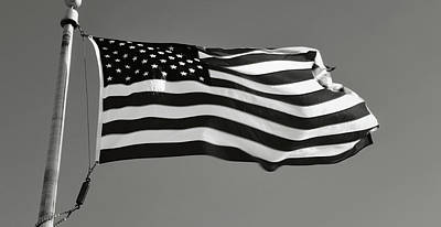 American Flag Waving In The Wind Poster by Brandon Bourdages