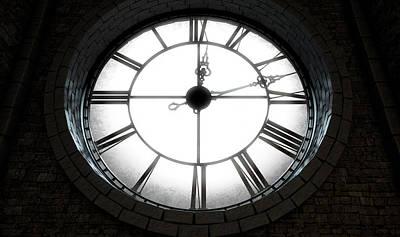 Antique Backlit Clock Poster by Allan Swart