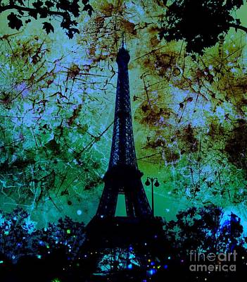 Apocalyptic Garden Party Eiffel Tower 6 Poster