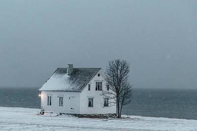 Arctic Landscape In Northern Norway, Tromso Region Poster by Aldona Pivoriene