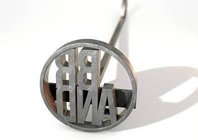 Branding Iron Brand Poster by Allan Swart