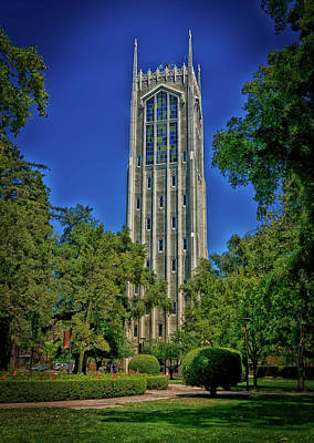 Burns Tower - University Of The Pacific Poster