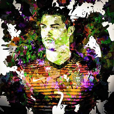 Cristiano Ronaldo Poster by Svelby Art
