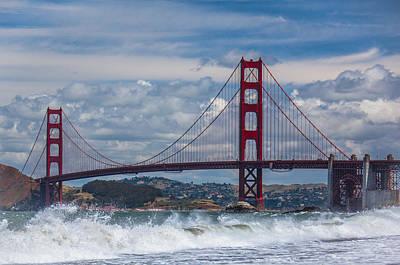Golden Gate Poster by Ralf Kaiser