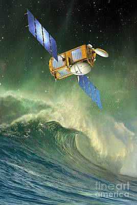 Jason-2 Satellite, Artwork Poster by David Ducros