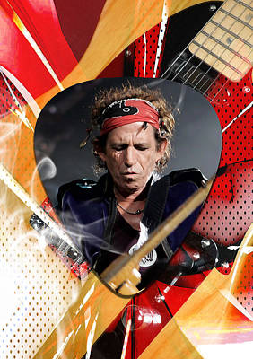 Keith Richards Art Poster