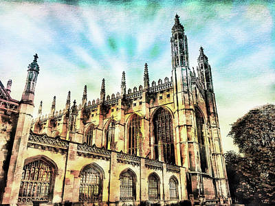 Kings College Cambridge Poster