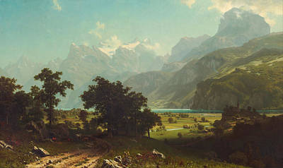 Lake Lucerne Poster by Mountain Dreams