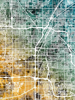 Las Vegas City Street Map Poster