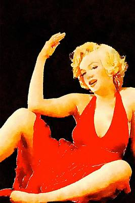 Marilyn Pinup By Frank Falcon Poster