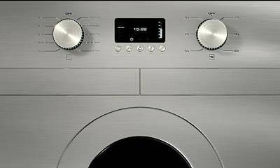 Modern Washing Machine Closeups Poster