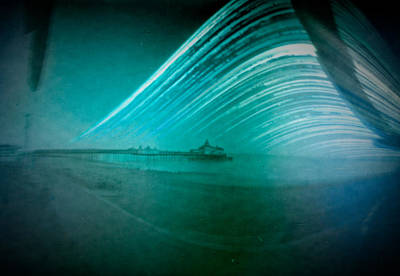 6 Month Exposure Of Eastbourne Pier Poster
