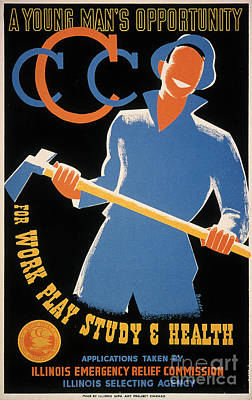 New Deal: Wpa Poster Poster by Granger