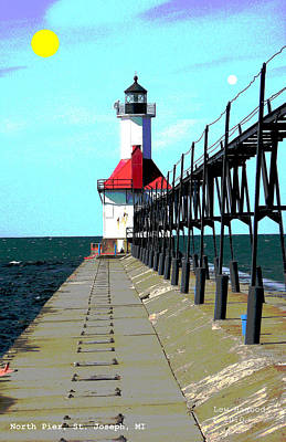 North Pier St Joseph Michigan Poster