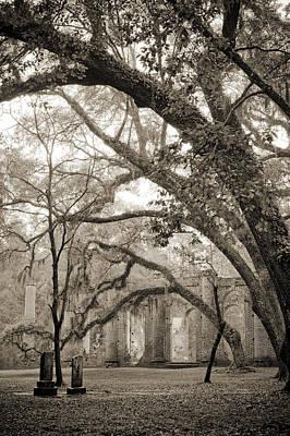 Old Sheldon Church Ruins Poster