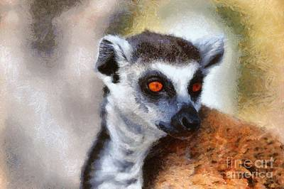 Ring Tailed Lemur Poster by George Atsametakis