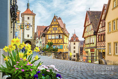 Rothenburg Ob Der Tauber Poster by JR Photography