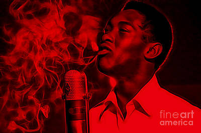 Sam Cooke Collection Poster by Marvin Blaine