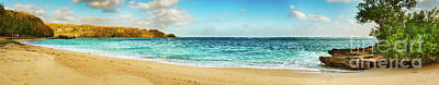 Sandy Tropical Beach. Panorama Poster by MotHaiBaPhoto Prints