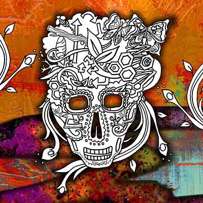 Sugar Skull Color Splash Series Poster